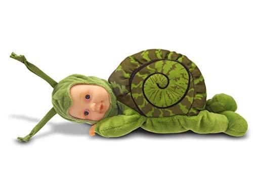 Anne Geddes 579171 zielony ślimak 23 cm lalka dziecięca - miękkie ciało wypełnione fasolą