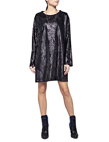 REPLAY W9579a.000.22746 Vestido, Negro (Black 98), Medium para Mujer
