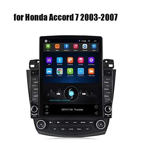 HP CAMP Auto-Multimedia-System Für Honda Accord 7 2003-2007, 9.7 Inch Navigationssystem Android 9.1 Unterstützt 7 Lichter/Bluetooth/Rückfahrkamera/Carplay/SWC,4g WiFi 2g 32g