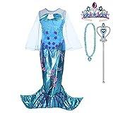 Lito Angels Deguisement Robe Sirène Princesse Ariel avec Accessories pour Enfant Fille,...
