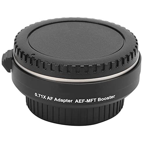 Anello Adattatore per Obiettivo Booster AEF-MFT, Adattatore per Obiettivo, Adattatore per Convertitore con Messa a Fuoco Automatica Riduttore di Focale 0,71X, per Obiettivo per Canon EF per M4/3
