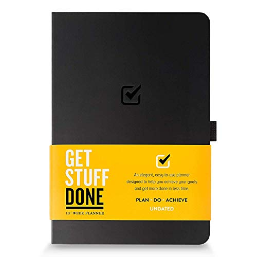 Undated Productivity Journal 13 Week Planner for Goal Setting - Plus 31 Daily Pages, 8.3'x5.5' : Get the Best from Yourself :: Includes Guide With Tips :: Motivational & Inspirational, for Men & Women