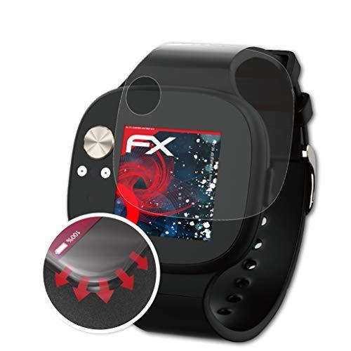 atFoliX Schutzfolie kompatibel mit Asus VivoWatch BP HC-A04 Folie, entspiegelnde & Flexible FX Bildschirmschutzfolie (3X)