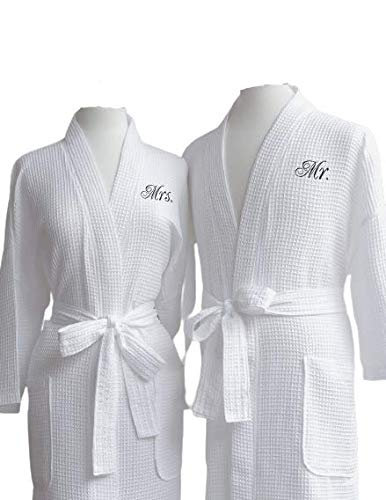 Egyptian Cotton Mrs and Mr Waffle Robes