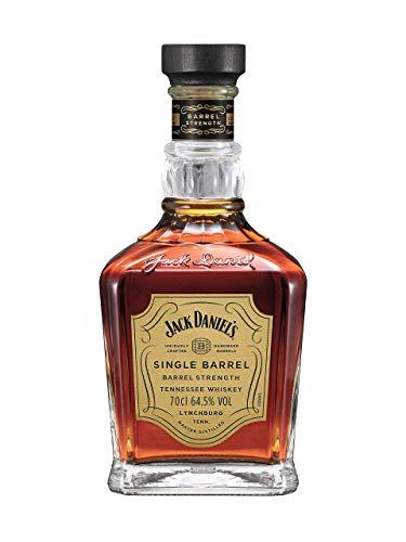 Jack Daniel's Single Barrel Barrel Strength - Tennessee Whiskey - 64,5% Vol. (1 x 0.7l), Vom Fass in die Flasche ins Glas.