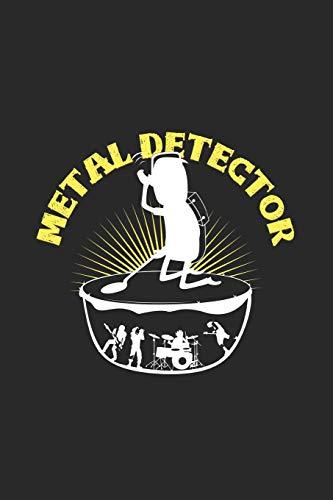 Metal detector: 6x9 Metal Detector - grid - squared paper - notebook - notes