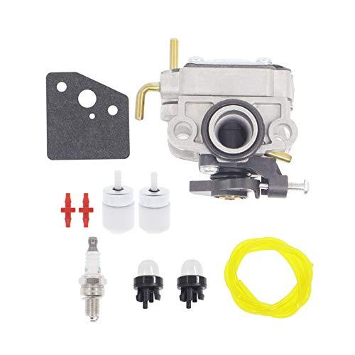 Hutdkte Carburetor for Troy-Bilt 753-08323 TB685EC TB635EC TB6044XP AC8 TEC Trimmer with 753-08319 Primer Bulb Spark Plug Kit