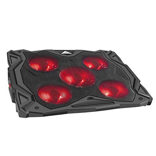 WEYO Laptopkühler für 12-17 Zoll, Laptop Kühler/Laptop Gaming Kühlung mit 5 Ultra-leise Lüfter, Notebook Cooling Pad/Cooler Ständer, 6 Höhen Verstellbar, 2 USB-Ports, stabil, tragbar und leicht