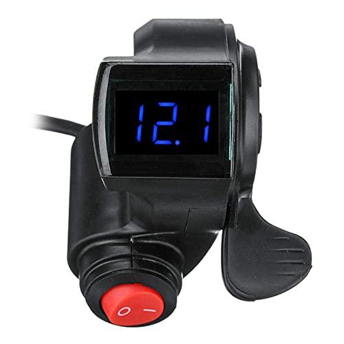 JINJUANYAO Control de Velocidad Thumb Fit para Xiaomi M365 Accesorios de Scooter eléctrico Universal Indicador de Velocidad de energía de la batería en Tiempo Real (Color : Black)