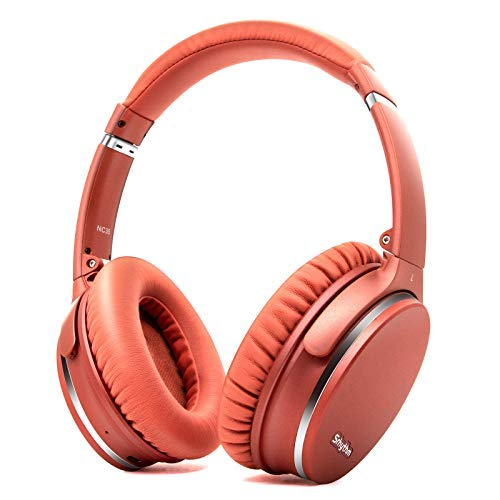 Noise Cancelling Headphones Wireless Bluetooth 5.0,Fast Charge Over-Ear Lightweight Srhythm NC35 Headset with Microphones,Mega Bass 40+ Hours' Playtime -Low Latency (Renewed)