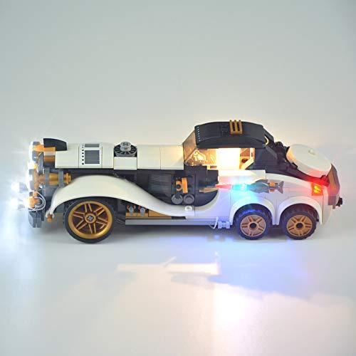 RTMX&kk Conjunto de Luces Batman Movie The Penguin Arctic Roller Modelo de Construcción de Bloques, Kit de Luces Compatible con Lego 70911 (NO Incluido en el Modelo)