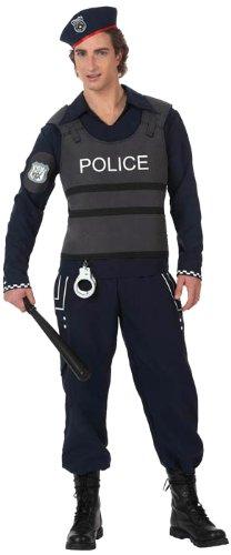 Atosa-10280 Disfraz Policía, color negro, X l (10280)