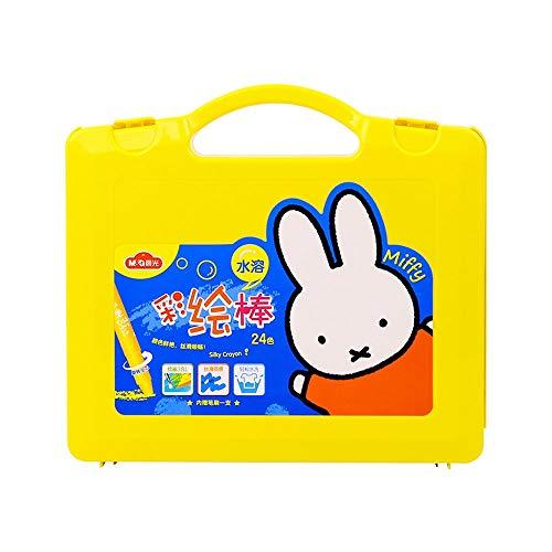 Yjdr Gemalt Sticks for Studenten Malerei Kinder Kindergarten Crayons und Ölgemälde-Sticks können mit einem Schlag von 12/24/36 Farben gewaschen Werden (Color : 24 Colors)