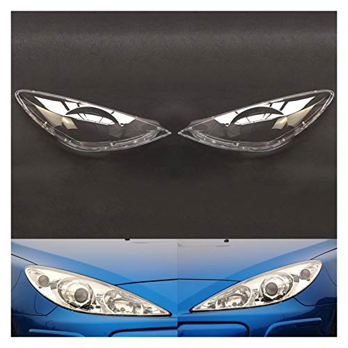 LCZ Lcbiao®. Auto-Scheinwerfer-Objektiv für Peugeot 307 2008 2009 2010 2012 2012 2012 2013 Autoscheinwerfer Scheinwerferlinse Auto Shell Cover (Color : A Pair)