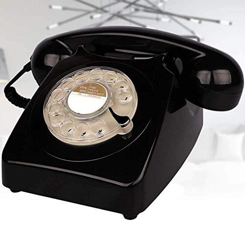 LXYZ Teléfono Retro con botón pulsador - Teléfono de marcación giratoria/Teléfono de Estilo Retro/Teléfono clásico/Teléfono de Escritorio clásico con Marcador Giratorio - Tono de Timbre Tradicional