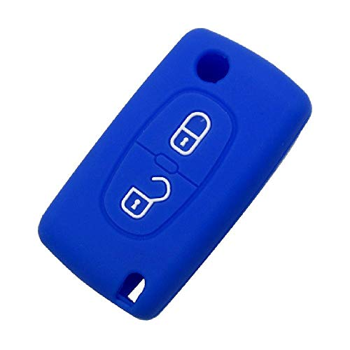 FBFG2 Botones Funda de Llave de Coche remota para Peugeot 206, 207, 307, 308, 207, 407, 408 para Citroen C2 C3 C4 C5 C6, Carcasa de Llave Plegable con Tapa