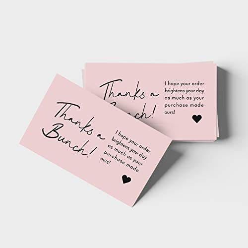"""ORMAT Thank you cards small business 2""""x3.5"""" thank you for supporting my small business cards premium quality and design thank you business cards 100 pack (Style #1)"""