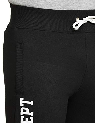 T2F Men's Boyfriend Slim Track Pants (MNS-JOG-01_Black_Medium)
