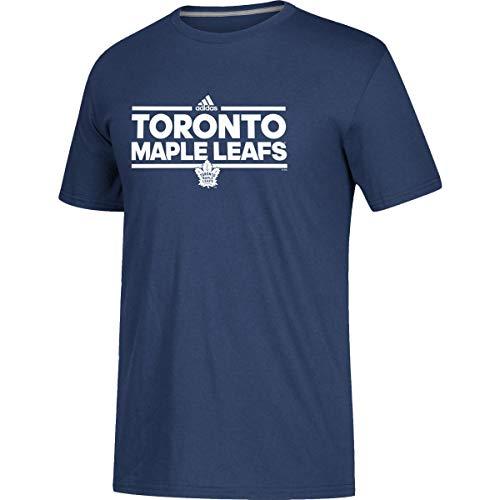 adidas NHL Game Day - Camiseta de manga corta para adulto, varios equipos (Toronto Maple Leafs – azul oscuro, mediano)