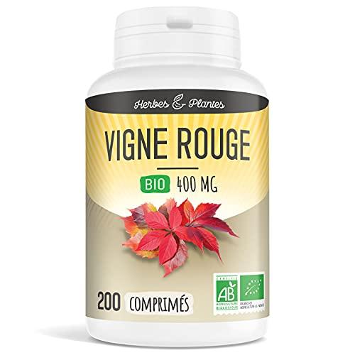 Herbes Et Plantes Vigne Rouge Bio 200 Comprimés 400 mg
