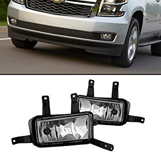 RP Remarkable Power, FL7075 Fit for 2015 2016 2017 Tahoe Suburban Pair Clear Bumper Lamps Fog Lights Only