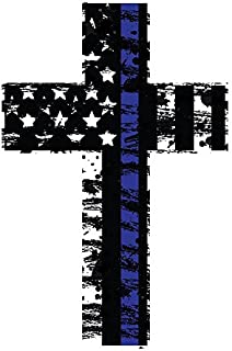 K9King Thin Blue Line Cross Reflective (2) Pack. Show Your Support for Our Men and Women of Law Enforcement