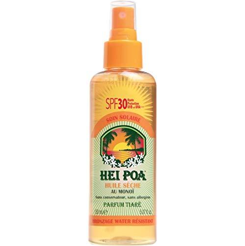 Hei Poa, Filtro solar corporal (Aceite Seco al Monoï, SPF30) - 150 ml.