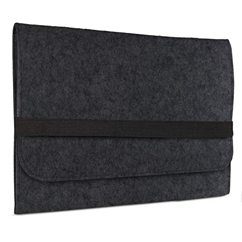 eFabrik Schutzhülle für Asus Pro B9440UA Tasche aus Filz 14 Zoll Filztasche Hülle Sleeve Soft Cover Schutztasche Sleeve, Farbe:Dunkelgrau