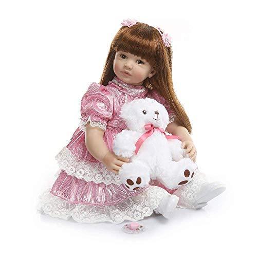 H.aetn Reborn Baby Dolls, 60cm Silicona Vinilo Rebirth Baby Doll Girl Exquisita Princesa Simulación Bebé Niño Regalo de cumpleaños Jugar a Las Casitas de Juguete