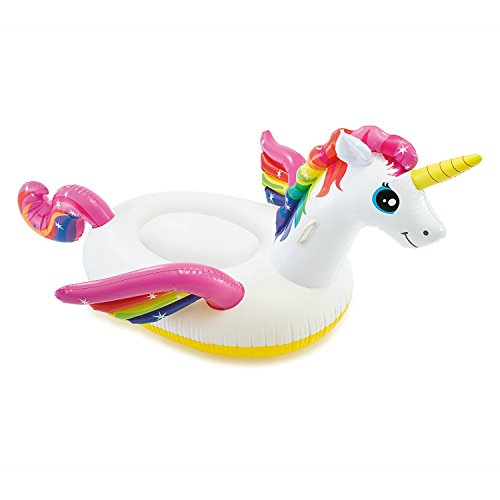 Unicornio Flotador hinchable para piscina, 2,01 m x 1,40 m x 97 cm
