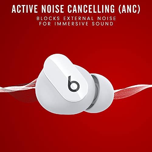 BeatsStudioBuds – Auriculares intraurales Totalmente inalámbricos con cancelación del Ruido – Auriculares Bluetooth Resistentes al Sudor, compatibles con Apple y Android – Blanco