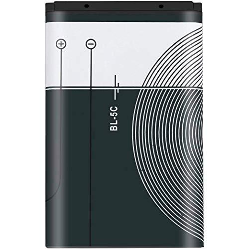 BVC Batería de Litio BL-5C (1020mAh 3.7V) Compatible con Nokia 2600, 2610, 2626, 2700 Classic, 2730 Classic, 3100, 3109 Classic, 3110 Classic,3110.