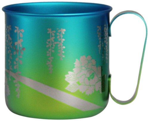 ホリエ チタンデザインマグカップ 和の花 牡丹(イエローグリーン) TMA-209B