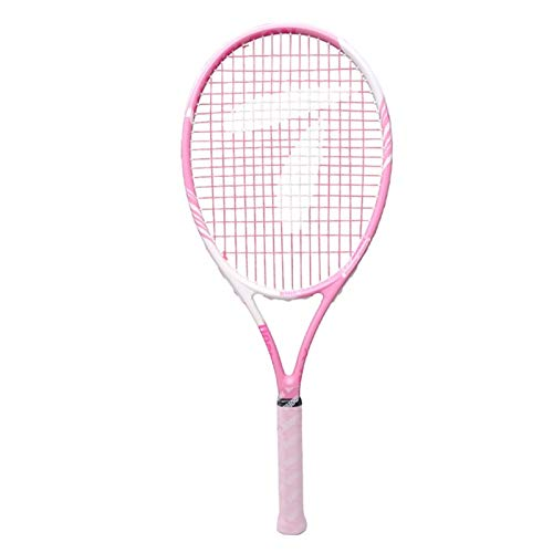 Schläger Rosa Anfänger-Tennisschläger Einzel-Tennis-Trainingsset Mit Schnur Anfänger-Schlägeroberfläche Dreifach-Stoßdämpfer (Color : Pink, Size : 68.5cm)