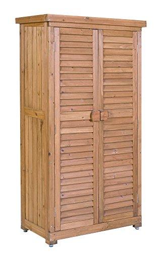Leco Aufbewahrungsschrank für den Außenbereich, Größe: Höhe 160 cm, Breite 87 cm, Tiefe 46.5 cm, honigfarben