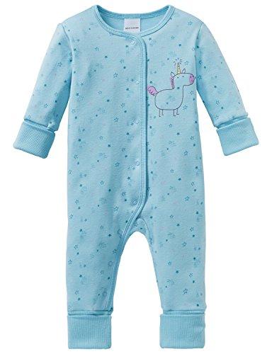 Schiesser Schiesser Baby-Mädchen Einhorn Anzug mit Vario Zweiteiliger Schlafanzug, Blau (Türkis 807), 74