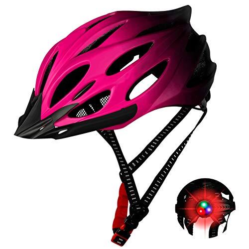 Sansund Fahrradhelm mit Lichtschutz Fahrradhelm verstellbar für Herren Damen Erwachsene Fahrrad Reitausrüstung Geschützter Fahrradhelm Bequem