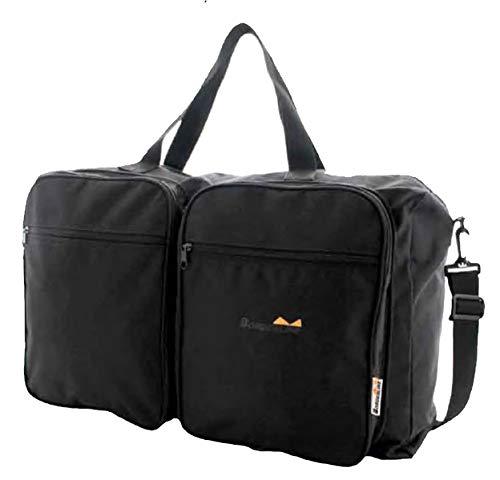 Borderline 2 in One Black Travel Flight Bag Converts to Large Lightweight Holdall