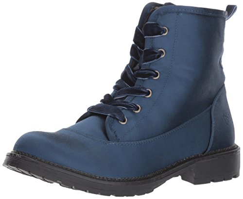 Dirty Laundry by Chinese Laundry Women's Rosario Combat Boot, Navy Satin, 5.5 M US