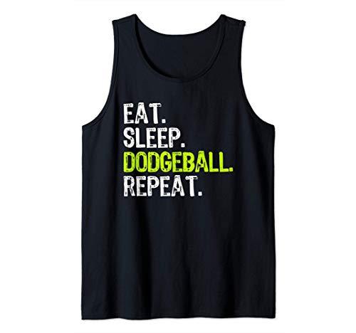 Eat Sleep Dodgeball Repeat Ballon Chasseur Débardeur