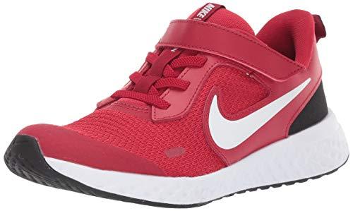 Nike Revolution 5 (PSV), Scarpe da Corsa Unisex-Bambini, Gym Red/White/Black, 29.5 EU
