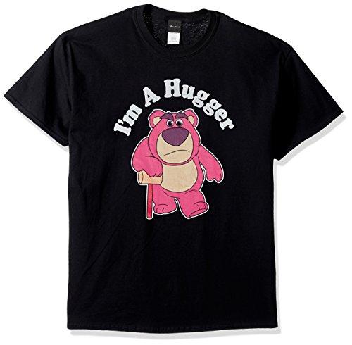 Disney Men's Toy Story Lotso Huggin Bear I'm A Hugger Graphic T-Shirt, Black, 5X-Large