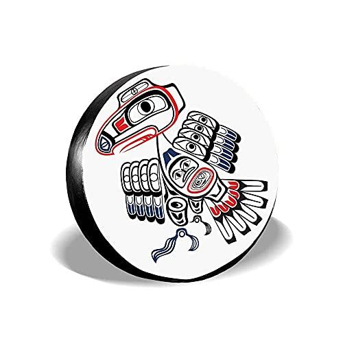 2068 Cubierta de neumático de repuesto de poliéster universal para rueda de repuesto 14 15 16 17 pulgadas