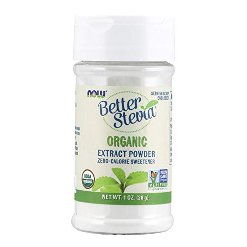 NOW Better Stevia Organic Extract Powder, 1 Ounce (Pack of 2)