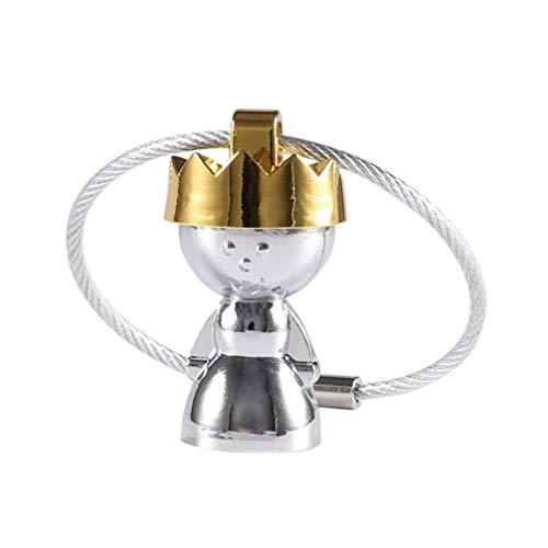 Amosfun Schlüsselanhänger King Queen Paar, dekorativer Schlüsselanhänger, Zinklegierung, Schlüsselanhänger zum Aufhängen, Queen, Größe 1