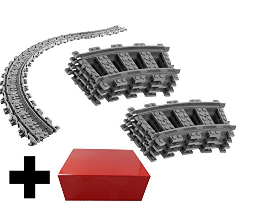 8x rails incurvés + 16x rails flexibles - Rails incurvés et rails flexibles Lego, Rails courbes Lego City Courbé