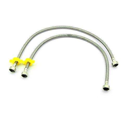 Owfeel (TM) 2 pcs en acier inoxydable tressé WC connecteur 60 cm