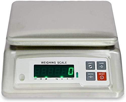 MFLASMF Básculas electrónicas Básculas electrónicas a Prueba de Agua Báscula de Plataforma Industrial de Acero Inoxidable de Alta precisión con Pantalla LCD (tamaño: 15 kg / 2 g)