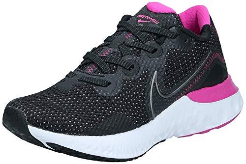 Nike Womens Renew Run Running Trainers CK6360 Sneakers Shoes (UK 5.5 US 8 EU 39, Black Dark Grey White 004)