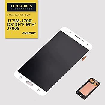 CENTAURUS AMOLED Screen Replacement for Samsung Galaxy J7 2015 SM-J700 J700H J700M J700DS J700F J700T J700P J7008 J700DS J700DH 5.5 inch LCD Display Touch Screen Digitizer Assembly Part Repair  White